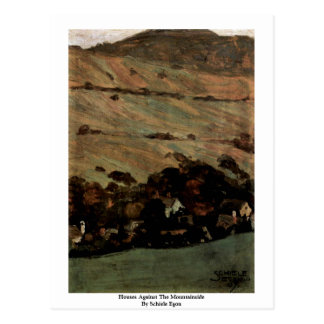 Houses Against The Mountainside By Schiele Egon Post Cards
