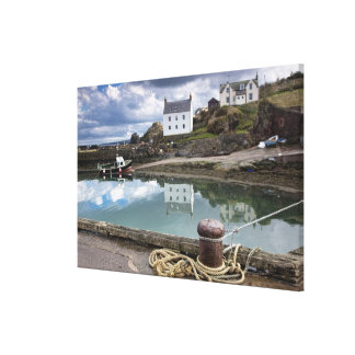 Houses And Boats Along The Water Canvas Print
