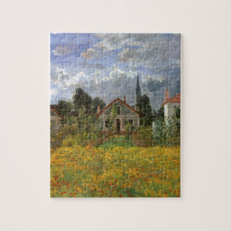 Houses at Argenteuil by Claude Monet Jigsaw Puzzle