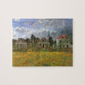 Houses at Argenteuil by Claude Monet, Vintage Art Jigsaw Puzzle