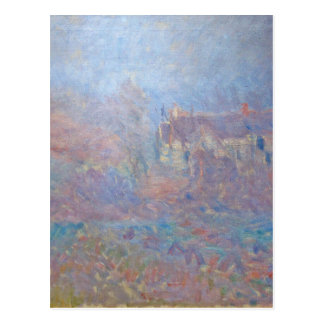 Houses at Falaise in the Fog by Claude Monet Postcard