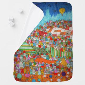 Houses. Blanket for Baby Pramblanket
