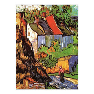 Houses in Auvers, Fine art by Vincent van Gogh. 14 Cm X 19 Cm Invitation Card