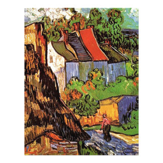 Houses in Auvers, Fine art by Vincent van Gogh. Custom Flyer