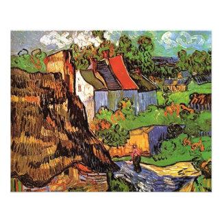 Houses in Auvers, Fine art by Vincent van Gogh. 11.5 Cm X 14 Cm Flyer
