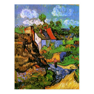 Houses in Auvers Van Gogh Fine Art Postcard