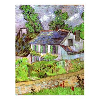Houses in Auvers, Vincent van Gogh Postcard