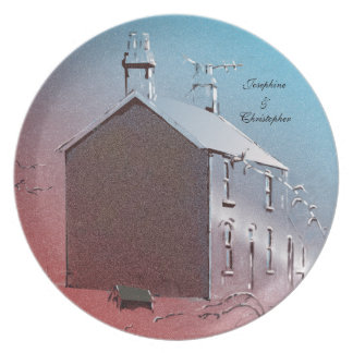 Houses in Great Britain Plate