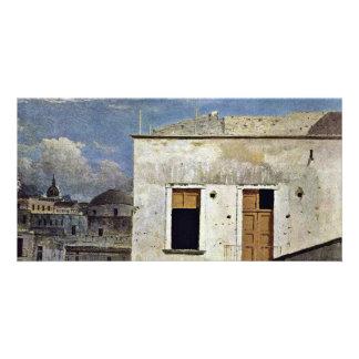 Houses In Naples By Jones Thomas (Best Quality) Custom Photo Card
