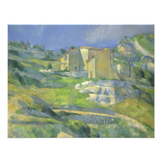 Houses in Provence by Cezanne Vintage Fine Art Custom Announcements