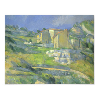 Houses in Provence by Cezanne, Vintage Fine Art Custom Announcements