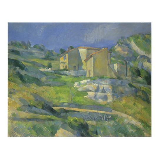 Houses in Provence by Paul Cezanne, Vintage Art