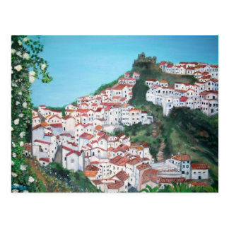 Houses in the village of Casares, Malaga  Postcard