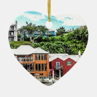 Houses Near Hamilton Ceramic Heart Decoration