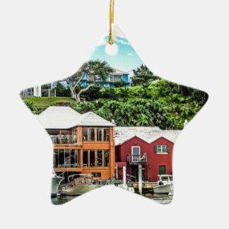 Houses Near Hamilton Christmas Ornament