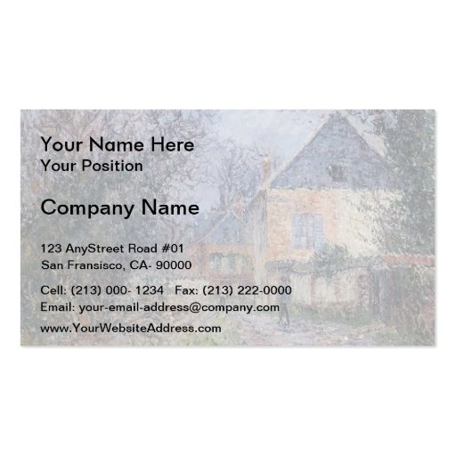 Houses near the Eure by Gustave Loiseau Business Card Templates