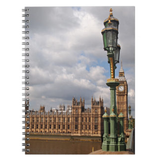 Houses of parliament and Big Ben in London Spiral Notebook
