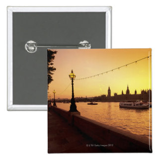 Houses of Parliament at Sunset 15 Cm Square Badge