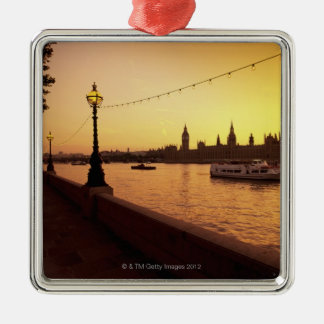 Houses of Parliament at Sunset Christmas Ornament