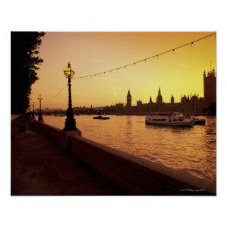Houses of Parliament at Sunset Poster