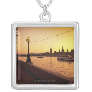 Houses of Parliament at Sunset Silver Plated Necklace
