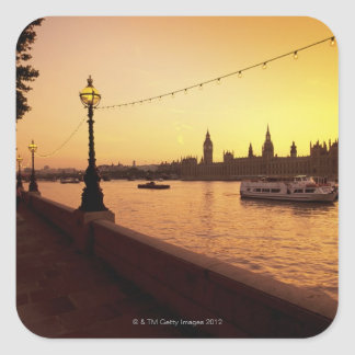 Houses of Parliament at Sunset Square Sticker
