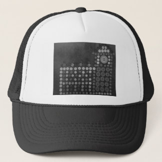 Houses of Parliament B/W Buttons by Kaye Trucker Hat