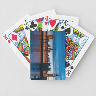 Houses of Parliament & Big Ben, London, England Bicycle Playing Cards
