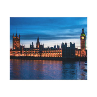 Houses of Parliament & Big Ben, London, England Canvas Print