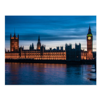 Houses of Parliament & Big Ben, London, England Postcard