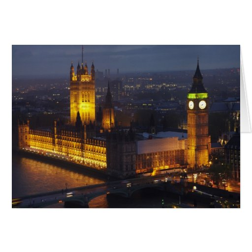 Houses of Parliament, Big Ben, Westminster Cards