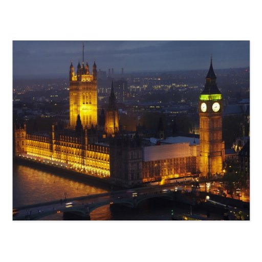 Houses of Parliament, Big Ben, Westminster Post Cards