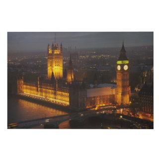 Houses of Parliament, Big Ben, Westminster Wood Wall Art