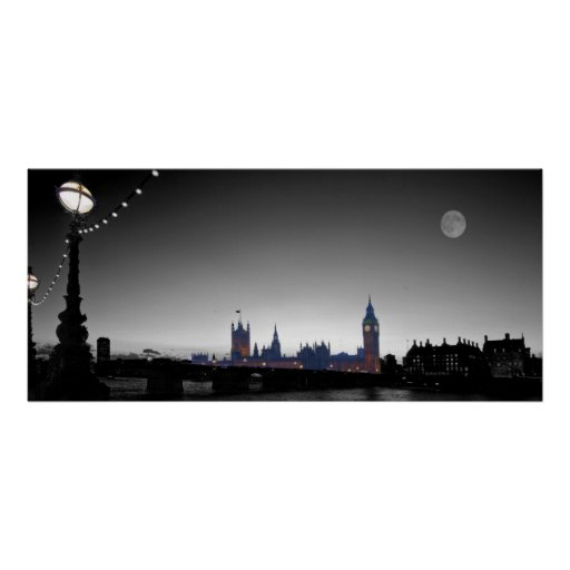 Houses of Parliament  bw Print