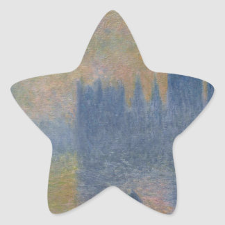 Houses of Parliament, Fog Effect by Claude Monet Star Sticker