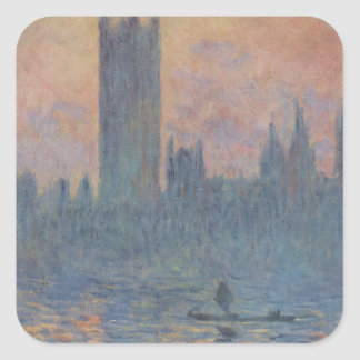 Houses of Parliament in Winter by Claude Monet Square Sticker