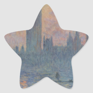Houses of Parliament in Winter by Claude Monet Star Sticker