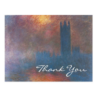 Houses of Parliament, London by Monet, Thank You Postcard