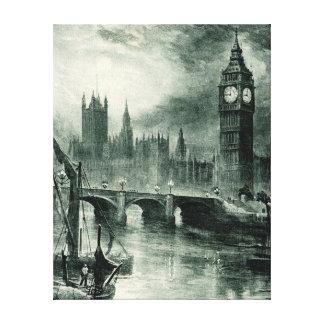 Houses of Parliament London Stretched Canvas Print