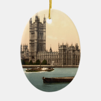 Houses of Parliament, London, England Christmas Ornament