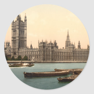 Houses of Parliament, London, England Round Sticker