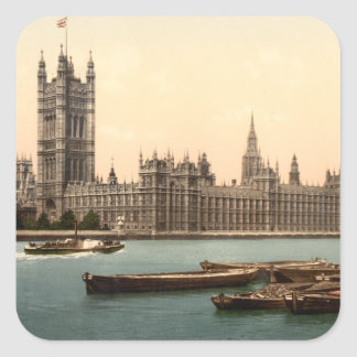 Houses of Parliament, London, England Square Sticker