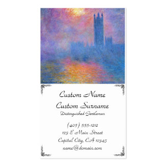 Houses of Parliament, London, Sun Breaking Through Pack Of Standard Business Cards