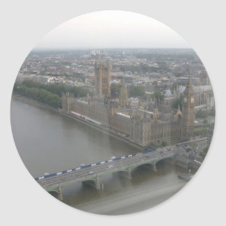 Houses of Parliament Round Sticker