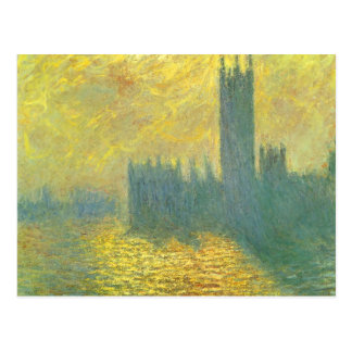 Houses of Parliament, Stormy Sky by Claude Monet Postcard