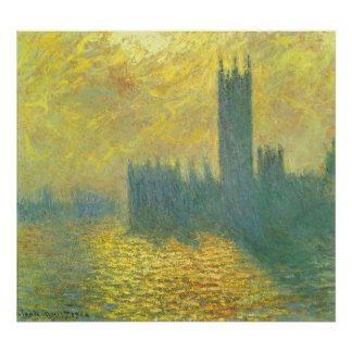 Houses of Parliament, Stormy Sky by Claude Monet Poster