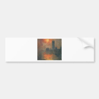 Houses of Parliament, Sunset by Claude Monet Bumper Sticker