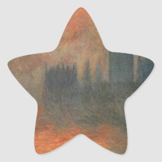 Houses of Parliament, Sunset by Claude Monet Star Sticker