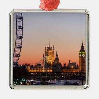 Houses of Parliament & the London Eye Christmas Ornament