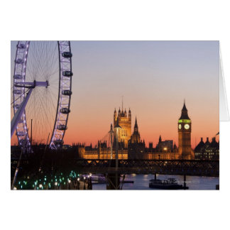 Houses of Parliament & the London Eye Greeting Card